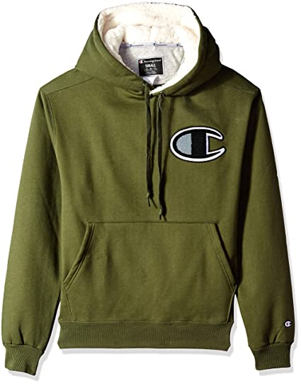 7a85cb712 Champion LIFE Men's Champion Super Fleece Sherpa Lined Cone Hoodie, Hiker  Green, X-Large: Amazon.co.uk: Clothing