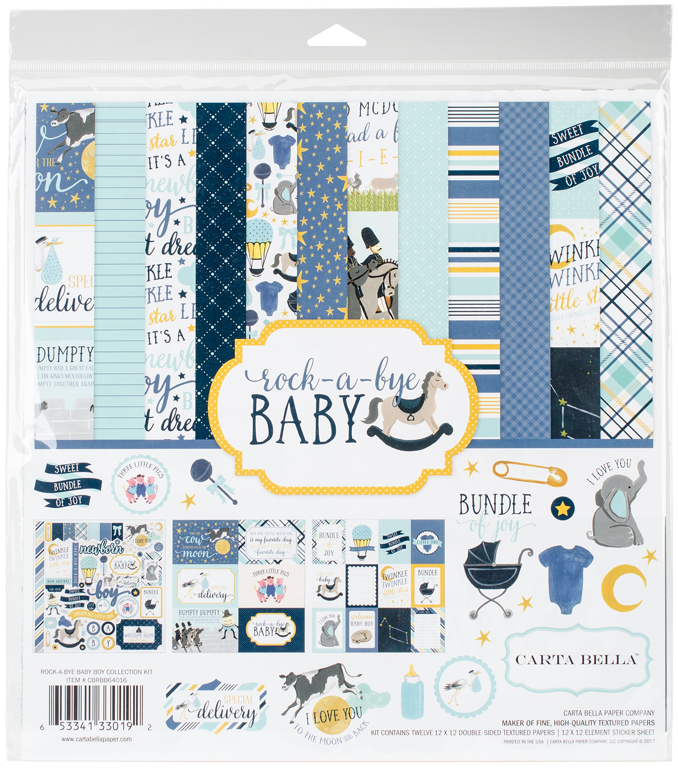 Carta Bella Paper Company Rock-a-Bye Boy Collection Kit