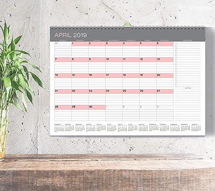 December 2019 Calendar Modern Amazon.: Wall Calendar from January 2019 Through December 2019