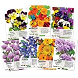 Collection of 7 Edible Wildflower Seed Packets (7 Individual Packets) Non-GMO Seeds by Seed Needs