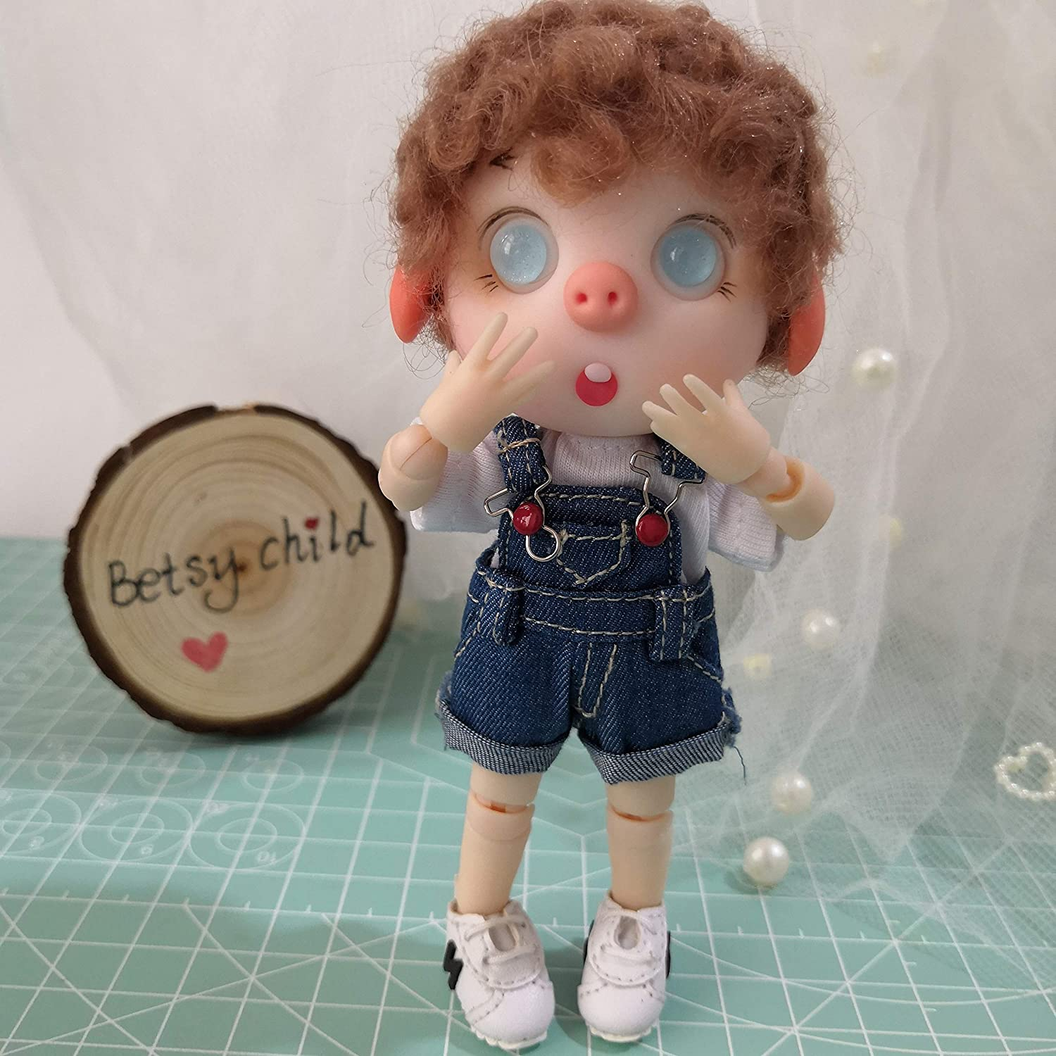 13 cm BJD doll jointed doll from Betsy Child OB11 resin doll