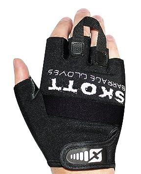 Skott Barrage Evo 2 medio dedo guantes de levantamiento de pesas – mejor gimnasio Entrenamiento Fitness