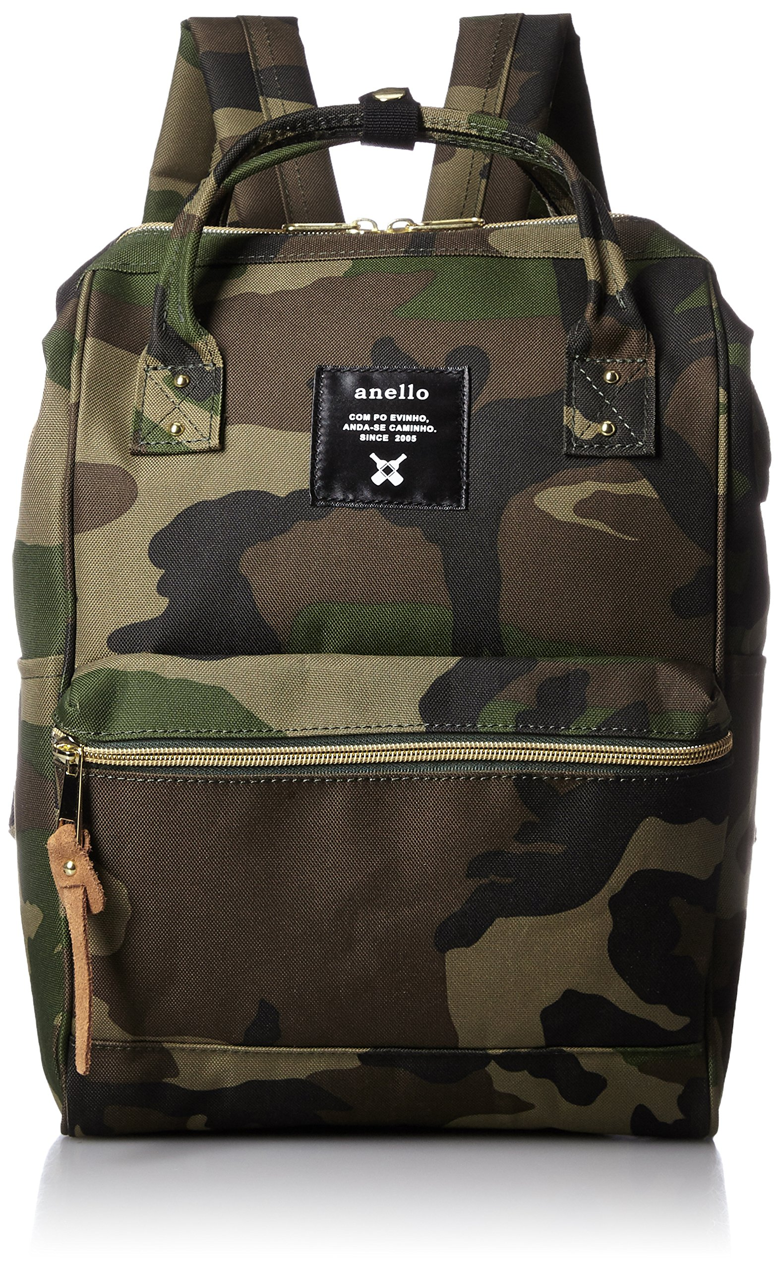 anello #AT-B0197B small backpack with side pockets camo