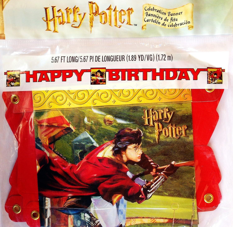 Amazon.com: Harry Potter Literary Happy Birthday Banner ...
