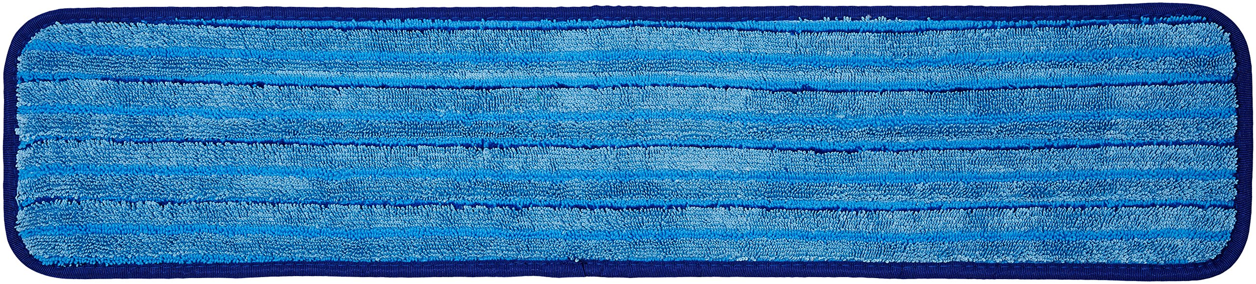 AmazonBasics Microfiber Damp Mop with Stripes, 24-inch - 12-Pack
