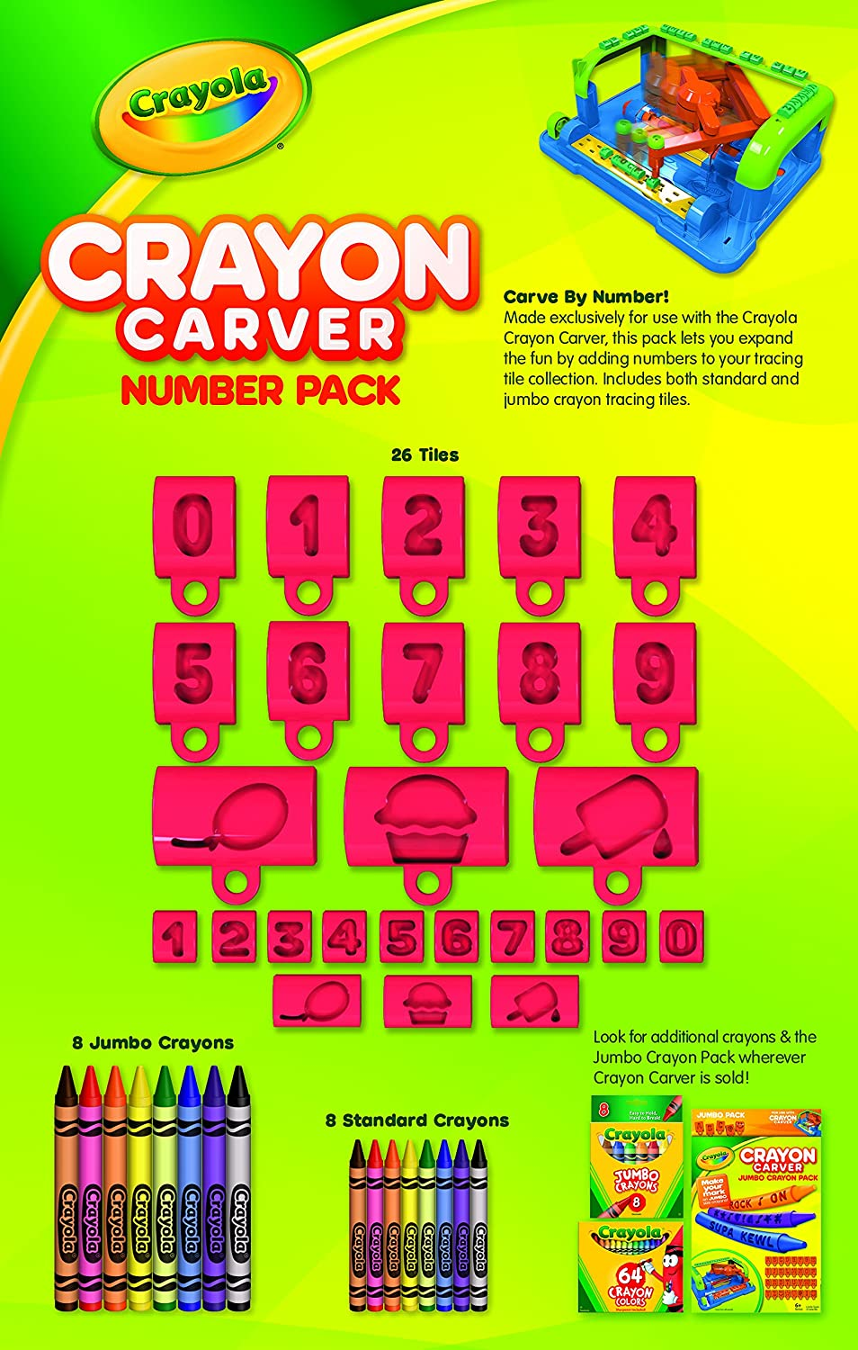 Amazon.com: Crayola Crayon Carver, Numbers Expansion Pack: Toys & Games