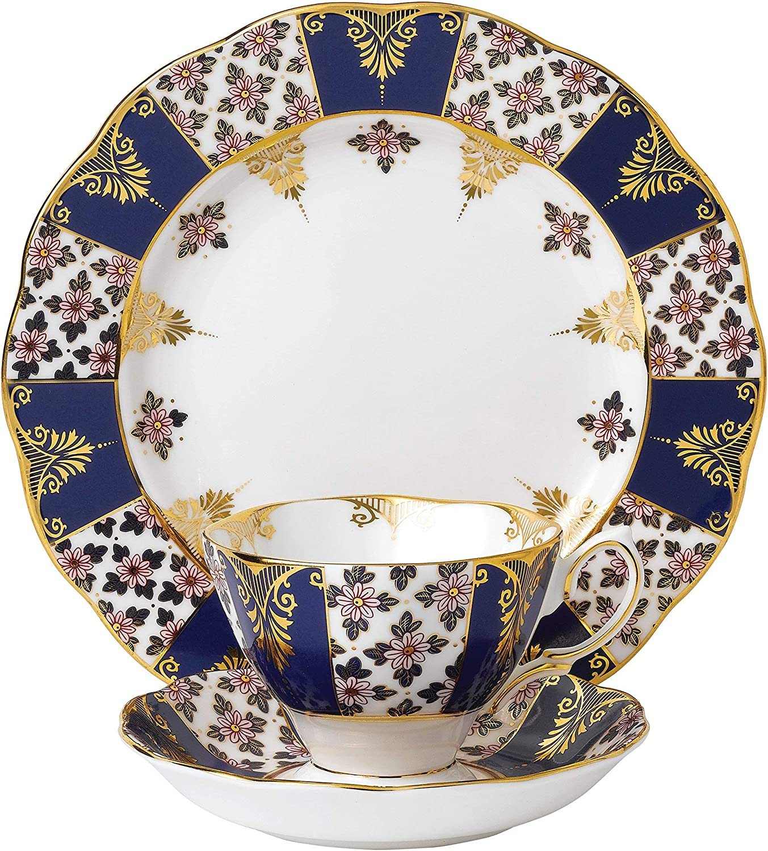 "Royal Albert 3 Piece 100 Years 1900 Teacup, Saucer & Plate Set, 8"", Multicolor"