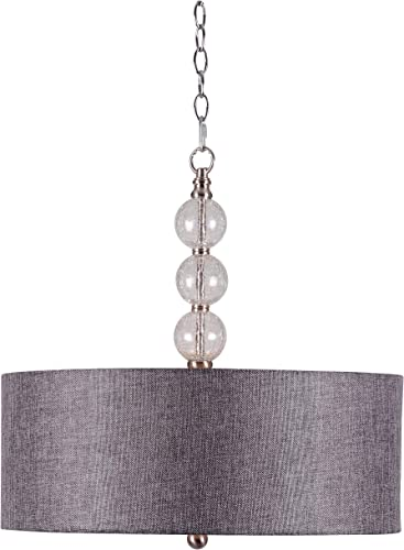 Kenroy Home 93313BS Maya 3-Light Pendant