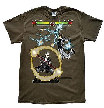 2ab6d7d5 Amazon.com: Stooble Men's Edison vs Tesla T-Shirt: Clothing