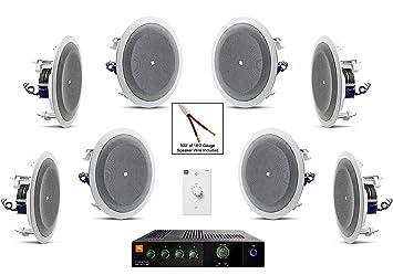 JBL Set 8128 altavoz de techo con JBL CSMA 180 mezclador amplificador y accesorios – restaurante