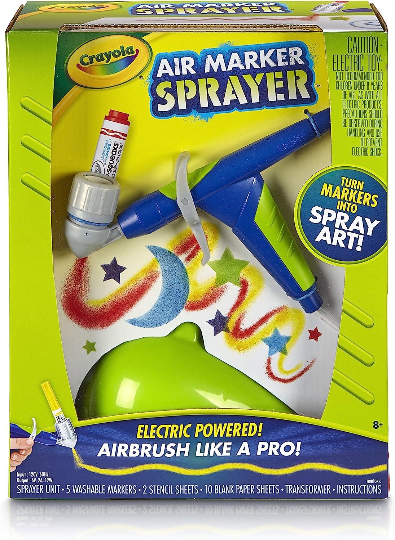 Crayola Air Marker Sprayer Airbrush Kit Gift For Kids Age 8 9 10 11