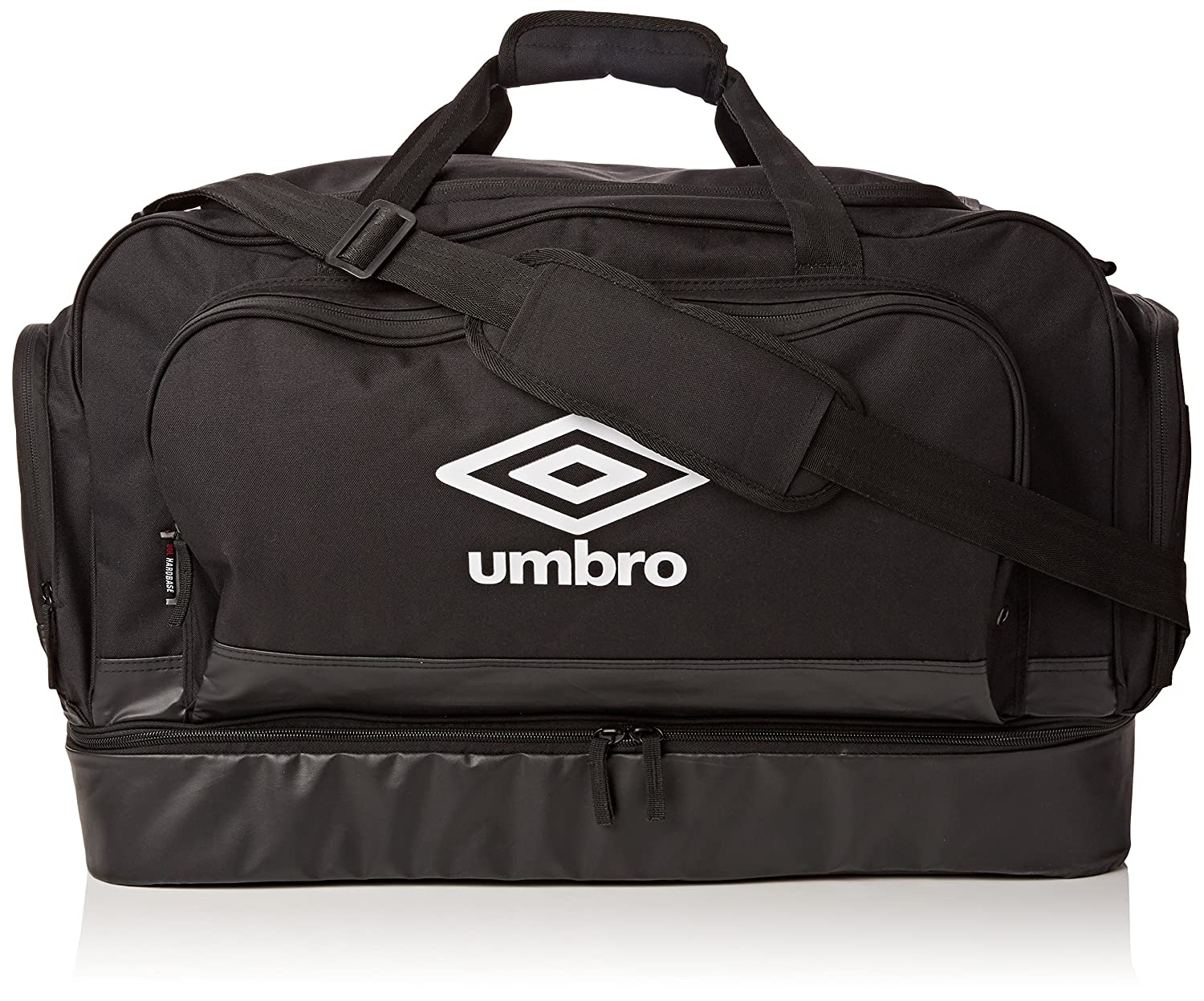 Umbro Unisex's Hard Base Football Bag-Black, Medium