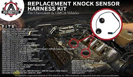 amazon com: knock sensor wire harness kit replaces 12601822, 917-033 - fits  chevy suburban, chevrolet silverado, avalanche, tahoe gmc sierra, yukon,