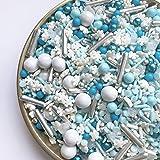 Sprinkles | Frozen in Sugar Sprinkle Mix | Blue Sprinkles | Confetti Sprinkles | Metallic Sprinkles | Snowflake Sprinkles | C