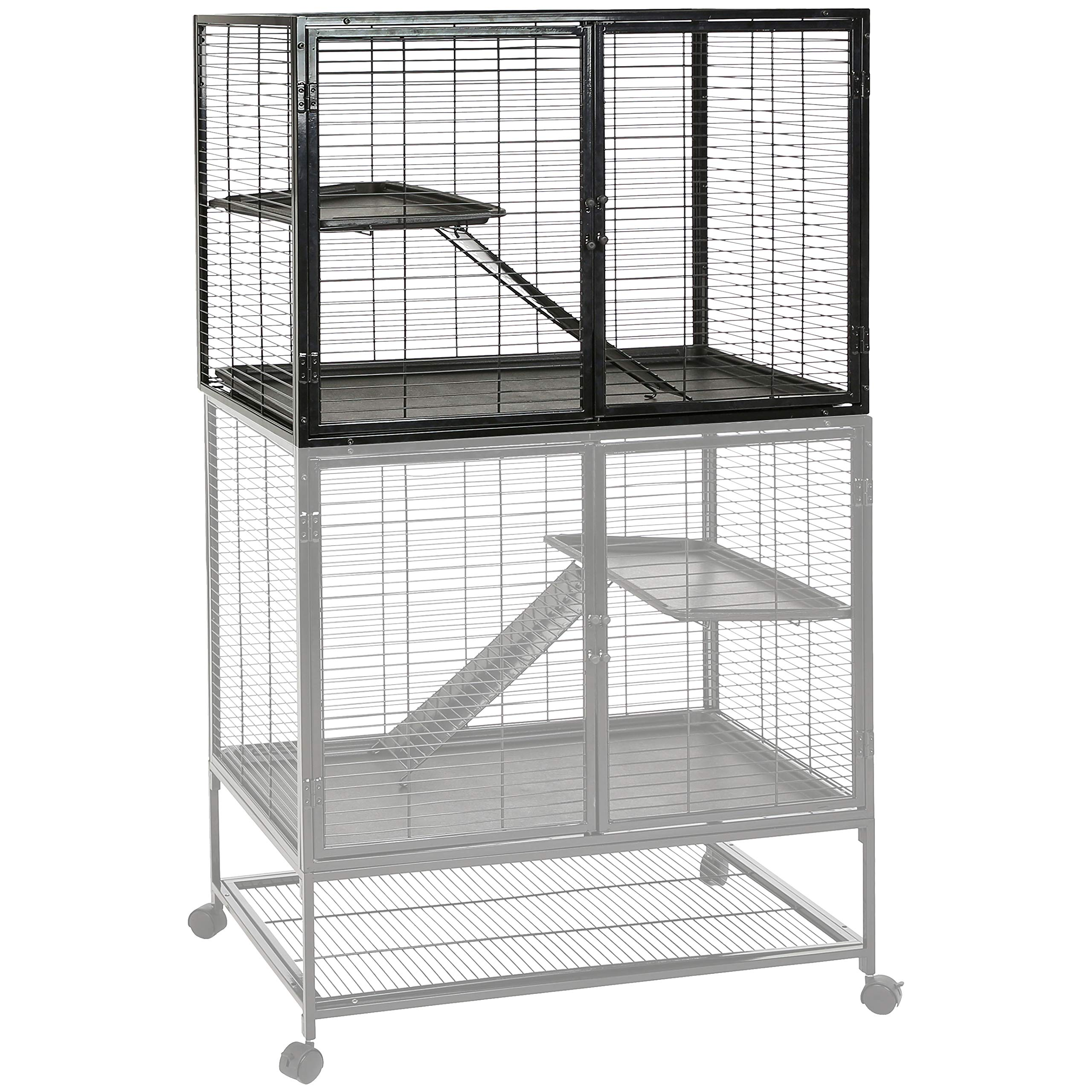 AmazonBasics Small Animal Metal Pet Cage Add On - 36 x 25 x 23 Inches