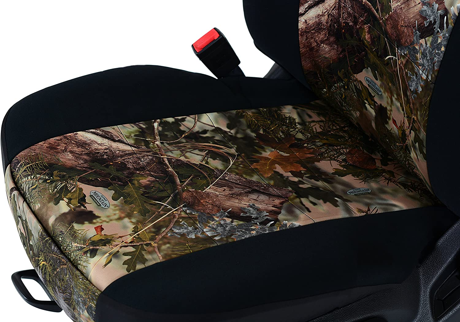 Outlaw Products Charcoal Genuine Neoprene Low Back Bucket Seat Cover W//Headrest Cover