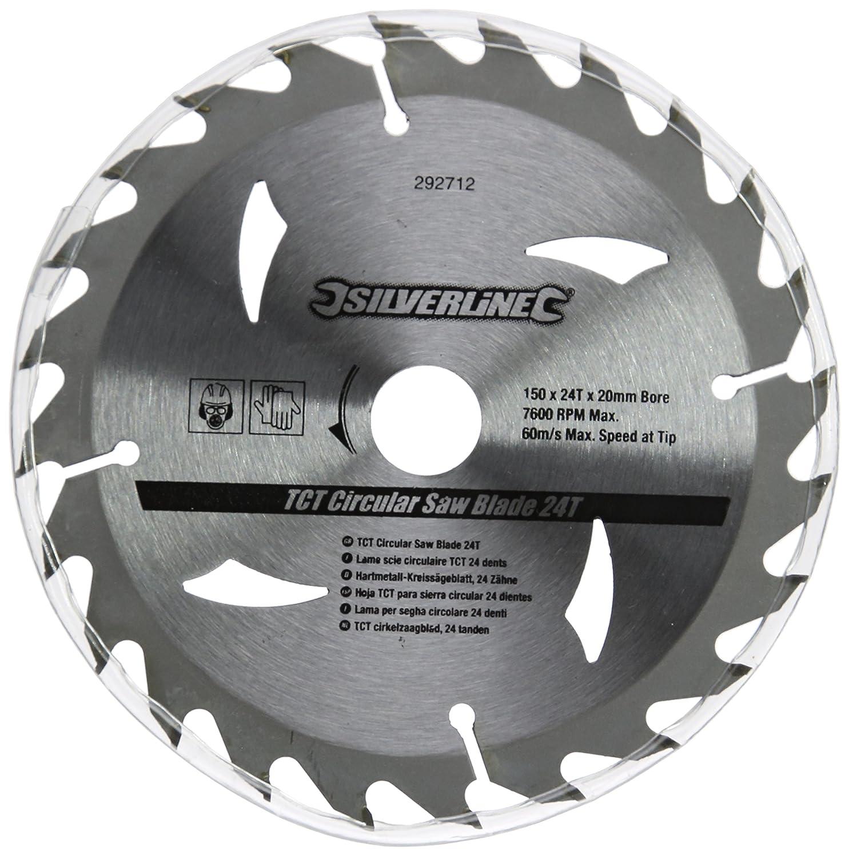 24T et 30T 12,75//16//20 mm Diam/ètre 150 mm Silverline 292712 Lot de 3 lames de scie circulaire TCT 16T