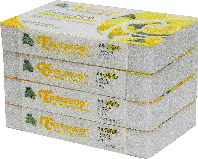 Lemon Scent 4 Pack, Treefrog Natural Air Freshener Fresh Box (AKA Xtreme Fresh)
