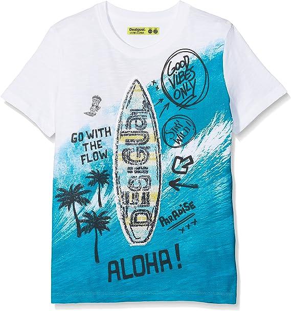 Desigual TS_Freddie T-Shirt Garçon: Amazon.