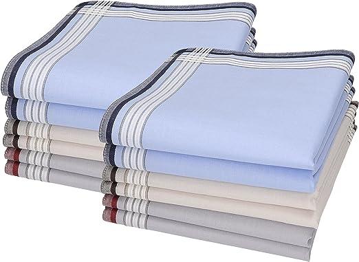 Betz 12 pañuelos para Hombres Leo 4 100% algodón tamaño 40x40 cm Color Dessin 02: Amazon.es: Hogar