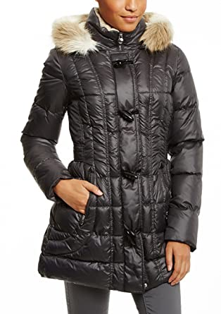 9e79a8d80c6 Amazon.com  Laundry by Design Women s Toggle Puffer Coat Regular and Plus  sizes  Clothing
