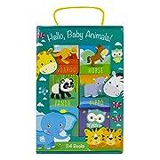 Hello, Baby Animals! 24 Board Book Block Set - PI Kids