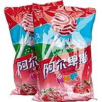 阿尔卑斯草莓牛奶味棒棒糖20支*2