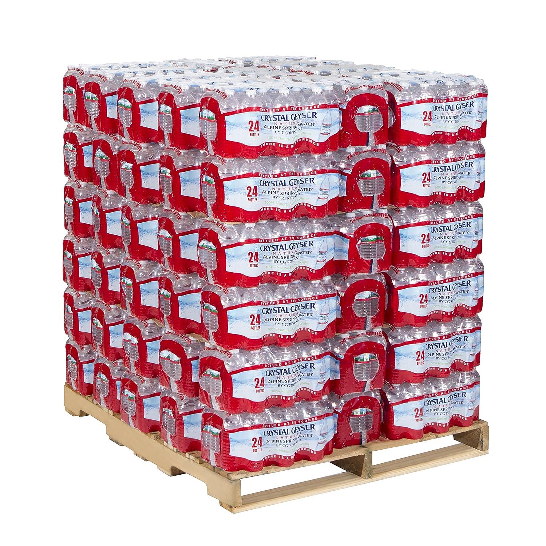Crystal Geyser Pallet Of 84 Cases, Of Alpine 100% Natural Spring Water, 24 16.9oz bottlesper Case, Bottled at The Source