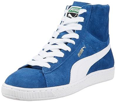 07aed1ff5eeee5 Puma Suede Mid Classics Trainers Mens Blue Blau (bright cobalt-white 01)  Size
