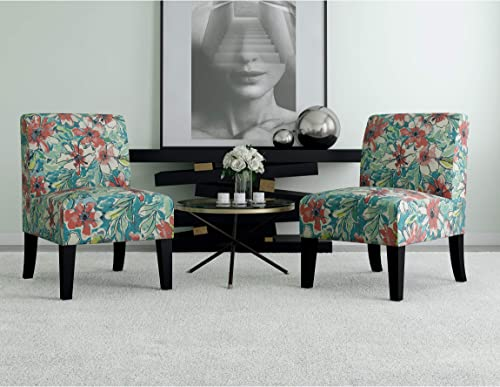 Domesis Set of 2 Upholstered Armless Chair
