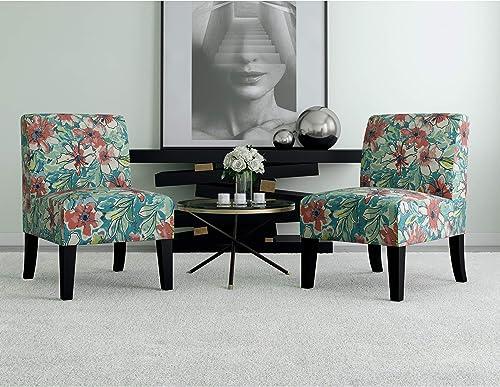 Domesis Set of 2 Upholstered Armless Chair