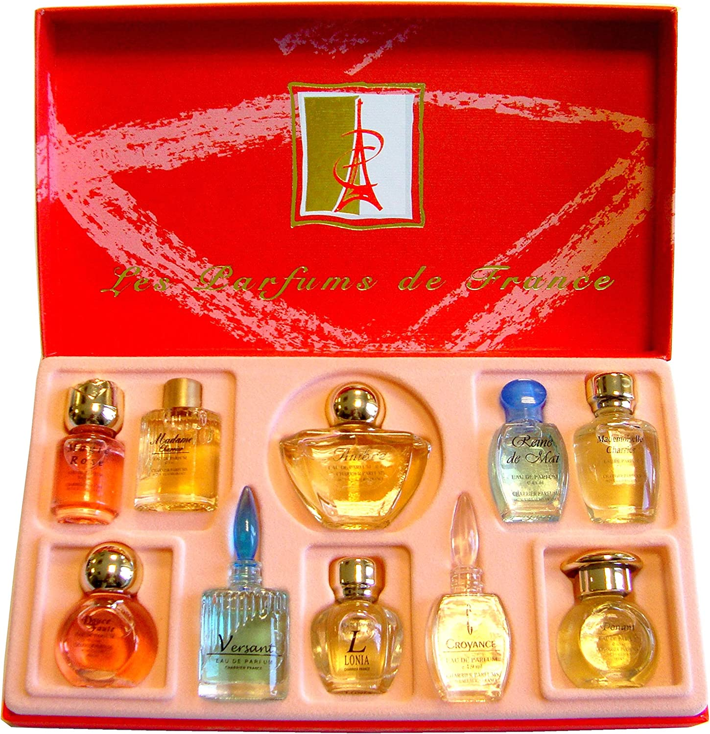 Charrier Parfums Luxe Top Ten - Estuche de 10 Eau de Parfum Miniatures Total 57 ml