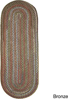product image for Rhody Rug Charisma Indoor/Outdoor Oval Braided Runner Rug by (2' x 8') Bronze