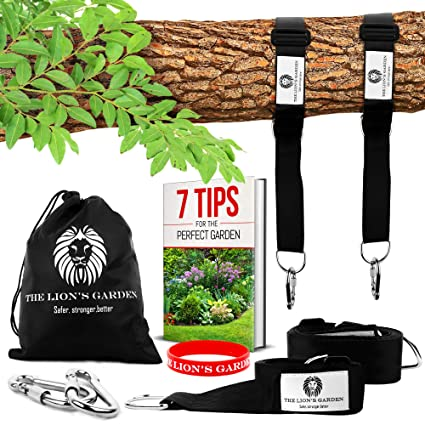 Adjustable 5 10ft Premium Tree Swing Straps Hanging Kit The Lion S Garden Tree Swing Straps Hanging Kit Holds 3876 Lbs With 2 Heavy Duty Carabiners