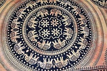 Indian Mandala Wall Hanging Hippie Elephant Cotton Bedsheet Dorm Decor Tapestry