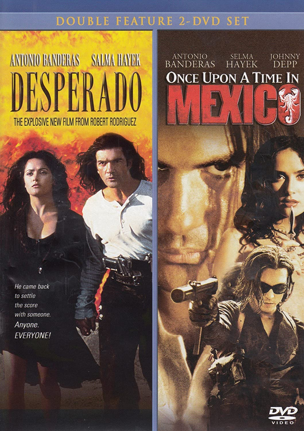 Amazon Com Desperado Once Upon A Time In Mexico Johnny Depp Antonio Banderas Salma Hayek Willem Dafoe Mickey Rourke Robert Rodriguez Movies Tv