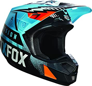 Fox Racing Vicious Hombre V2 Motocross Casco de Moto, Color Azul y Blanco