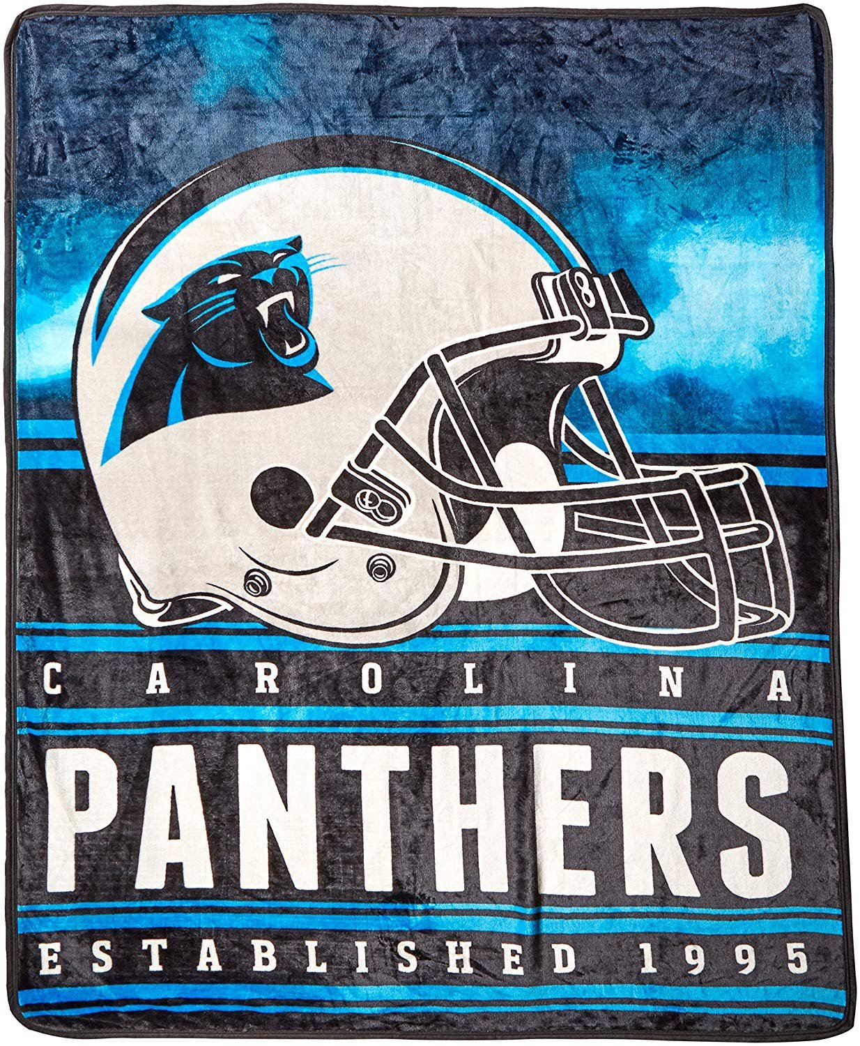 55e849a4 The Northwest Company Officially Licensed NFL Carolina Panthers Stacked  Silk Touch Throw Blanket, 60