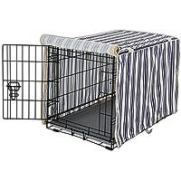 "You & Me Striped Dog Crate Cover, 31"", Medium"