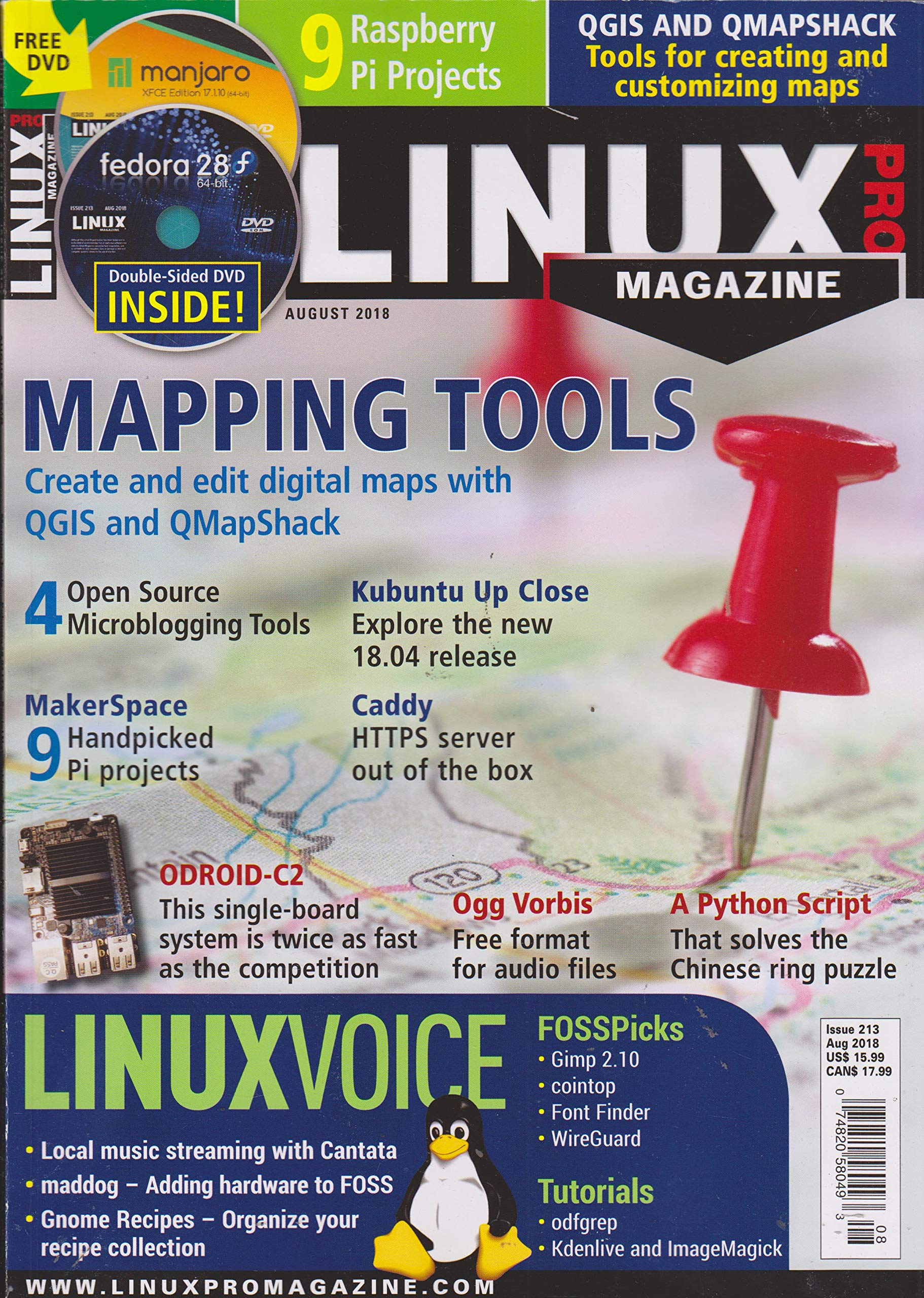 Linux Pro Magazine August 2018 Mapping Tools: Linux Pro