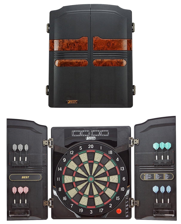 Best Sporting Diana Electrónica Oxford, LED Diana Cabinet con 12dardos, puntas de repuesto y fuente de alimentación, Oxford 2.0