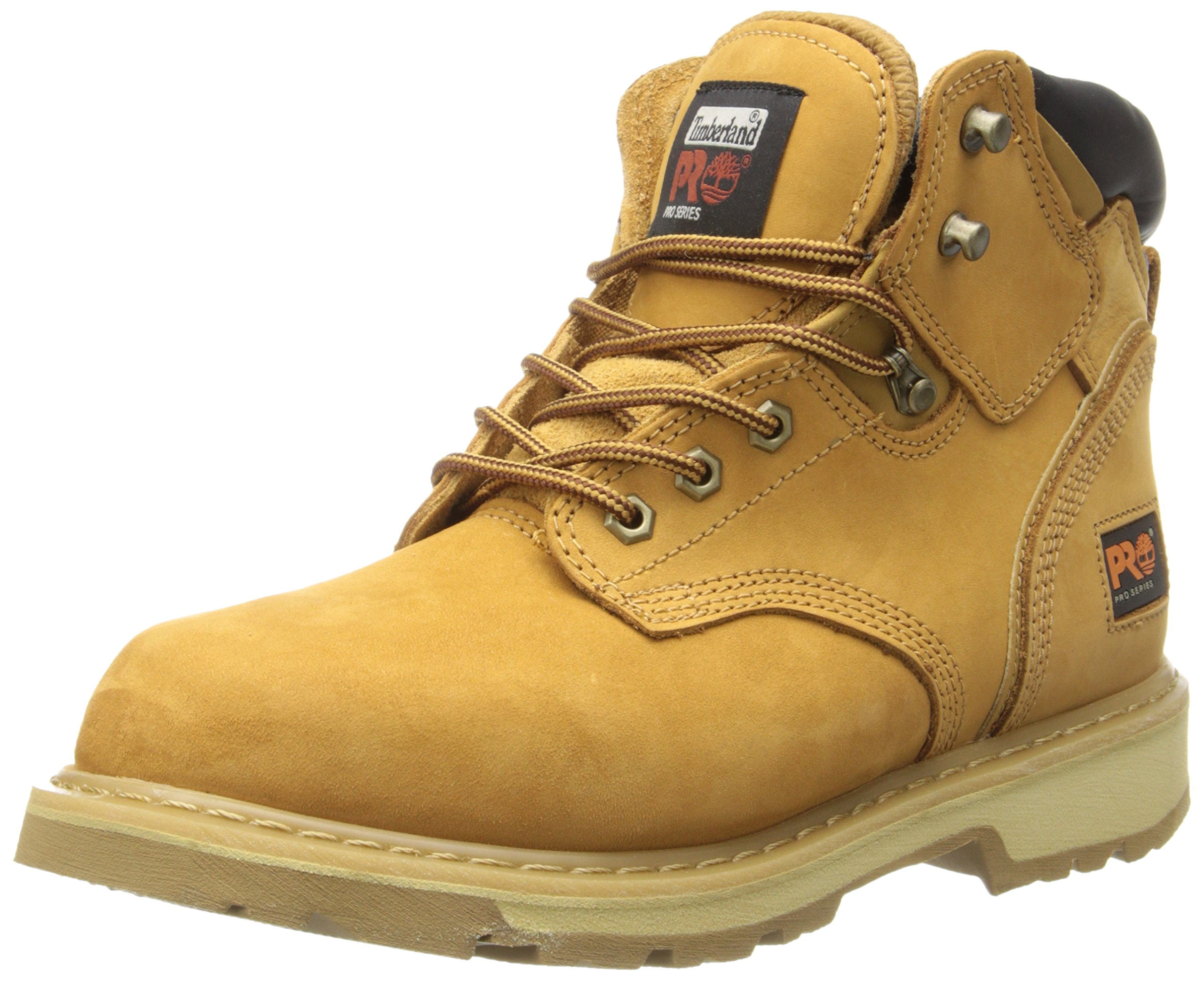 Timberland PRO Men's Pitboss 6'' Soft-Toe Boot, Wheat , 8.5 M by Timberland PRO
