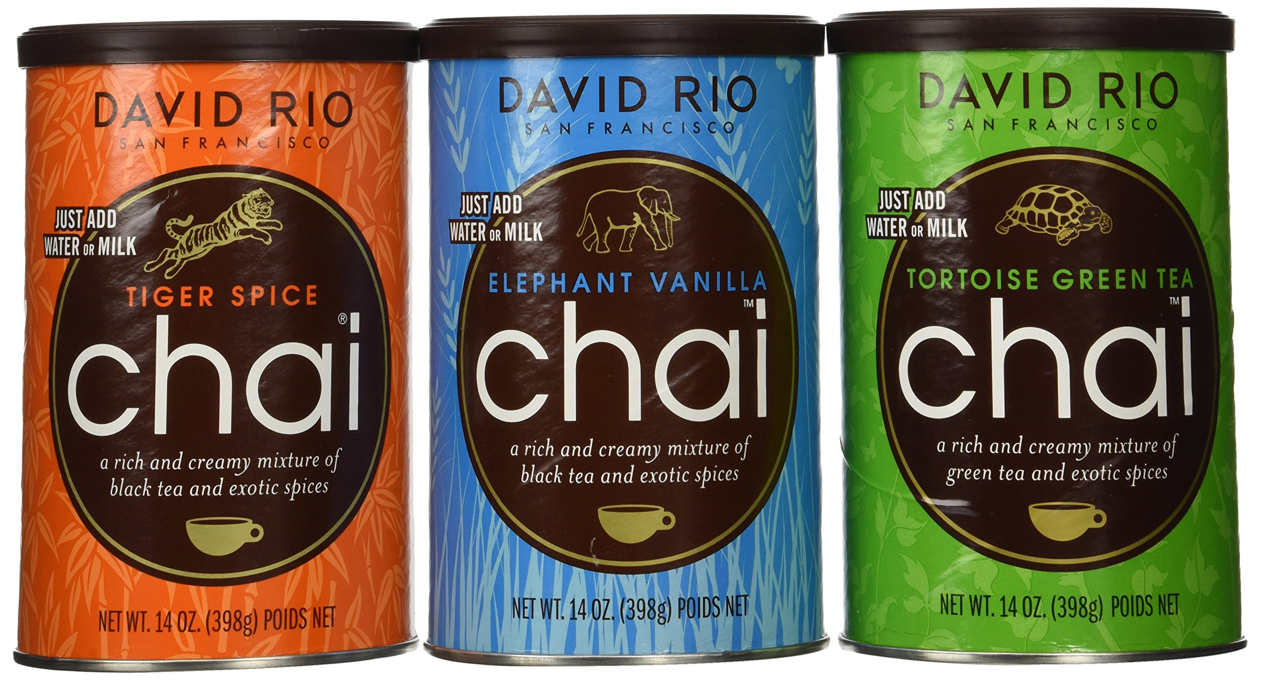 David Rio Chai Mix, 3 Caniser Variety Pack 14 Oz by David Rio