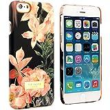 """Coque arrière rigide pour iPhone 6 4.7"""" - Collection Ted Baker Femme Automne/Hiver 2014 - Motifs SALSO - Fleurs et fond noir"""