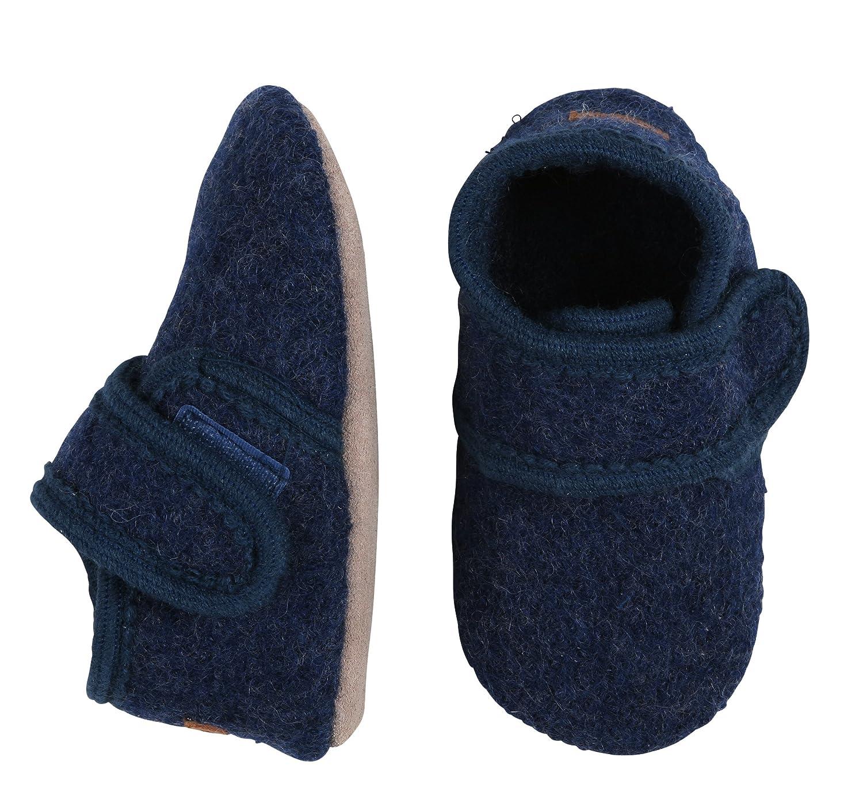 Melton Baby Girls' Wollhausschuhe Mit Klettverschluss Slippers 4711
