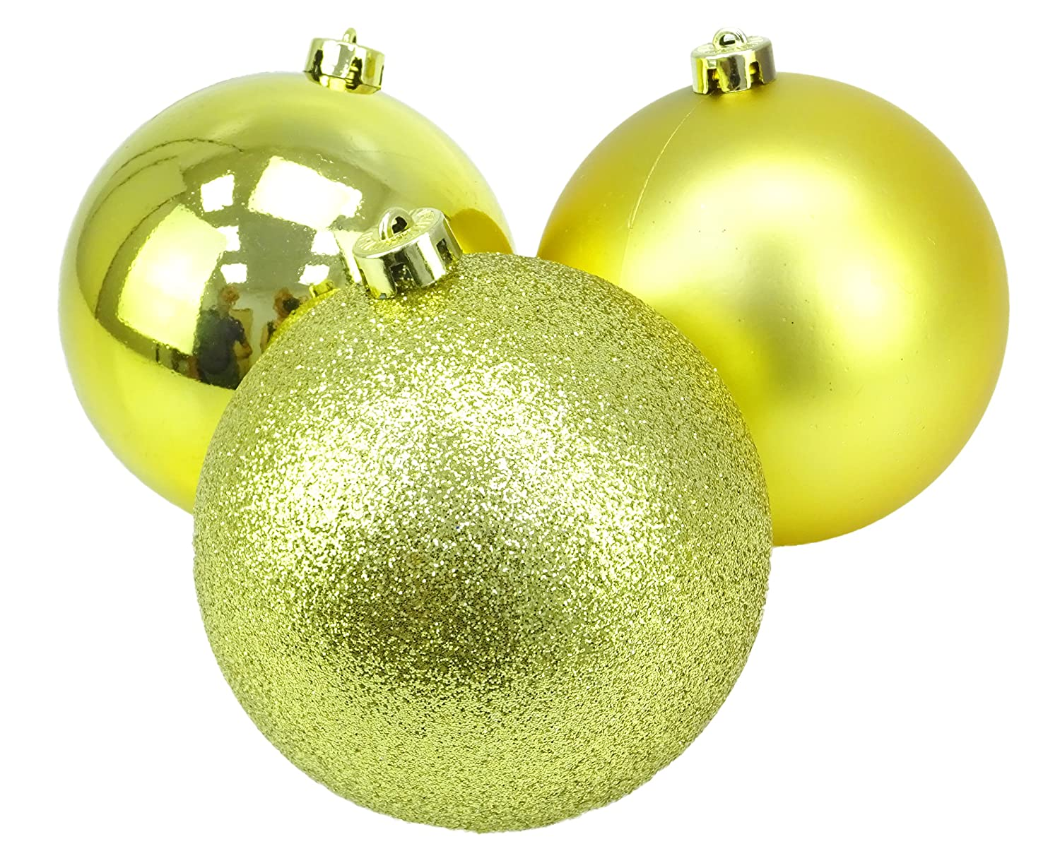Christmas Concepts® Pack of 3 - Extra Large 150mm Christmas Tree Baubles - Shiny, Matte & Glitter Decorated Baubles (Chocolate)