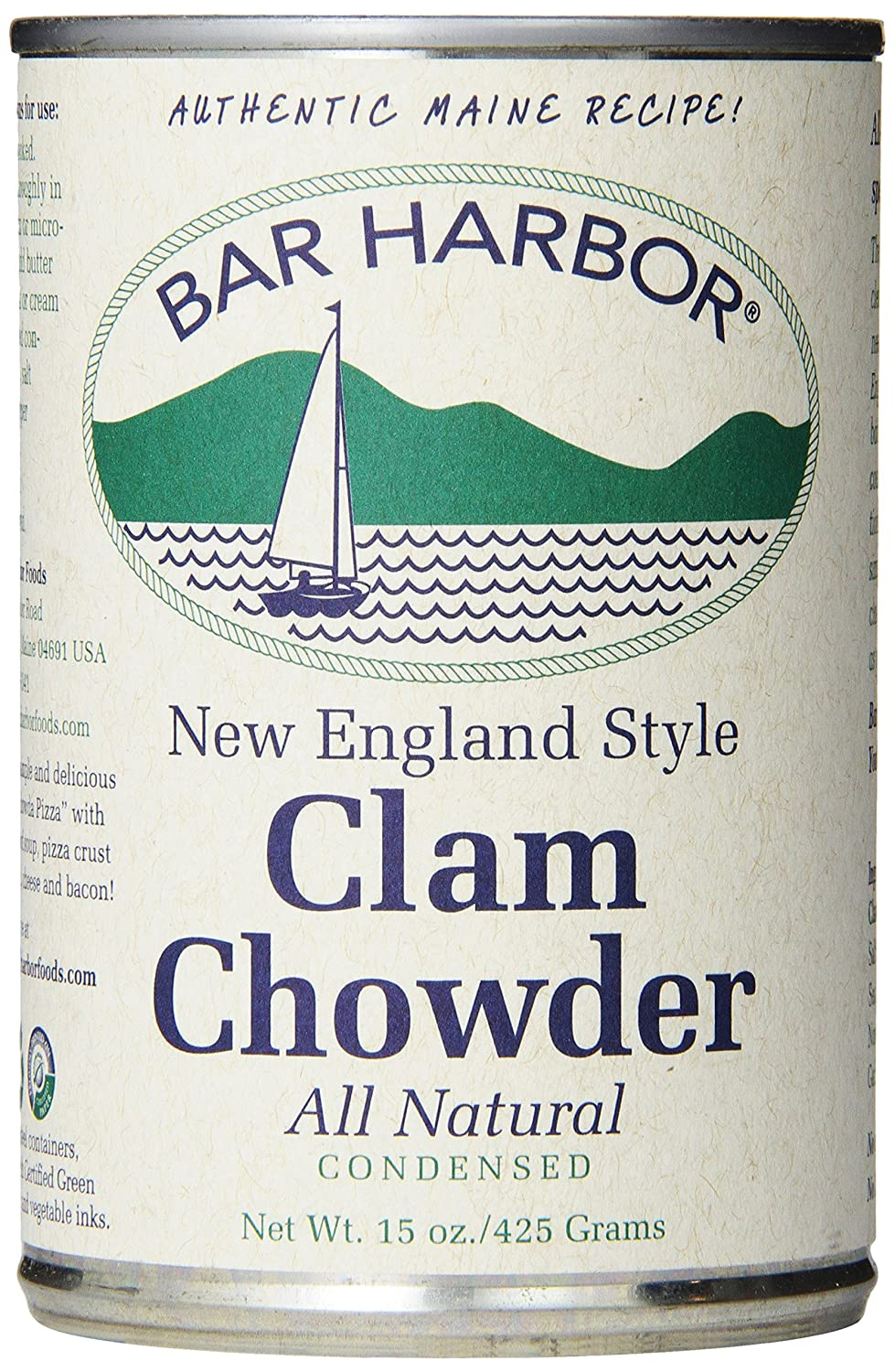 Bar Harbor Chowder, New England Clam, 15 Ounce (Pack of 6)