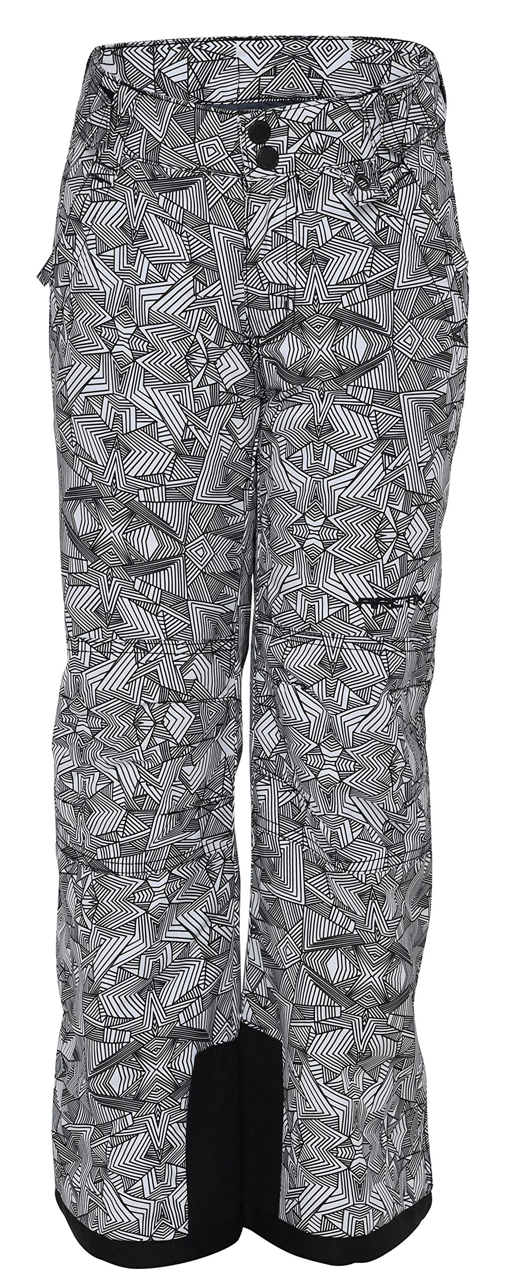 Arctix Youth Snow Pants with Reinforced Knees and Seat, Diamond Print White, X-Large by Arctix