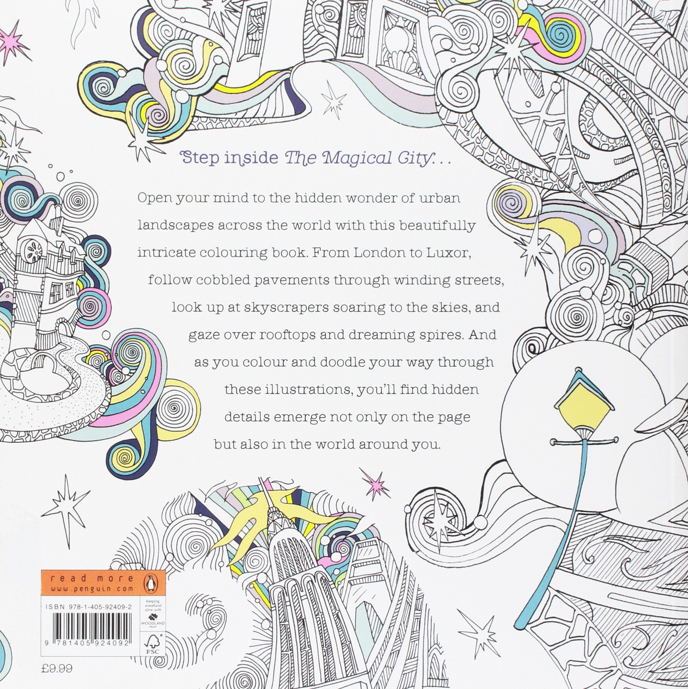 The Magical City Colouring Books Amazoncouk Lizzie Mary Cullen 9781405924092