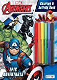 Marvel Avengers 32-Page Coloring and Activity Book with 6 Markers 43837